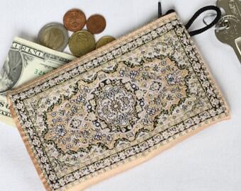 Powder Pink Purse, Floral Wallet, Women Purse Wallet, Zipper Coin Purse, Travel Purse, Floral Coin Purse, Wedding Gift Bag