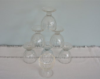 Dominion Glass Egg Cups - ( set of 7 )