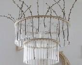 Maria S.C. double test tubes chandelier / lamp / vase /Winter decoration