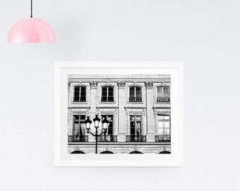 Black and White Paris Photography Print - Paris fine art print