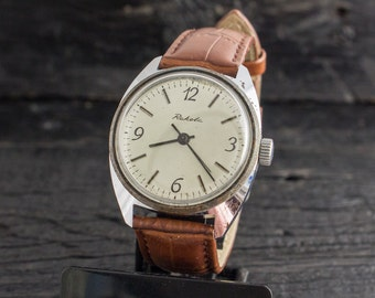 Vintage mens watch, Vintage Raketa mens watch, vintage russian watch, soviet mechanical watch, men's wrist watch