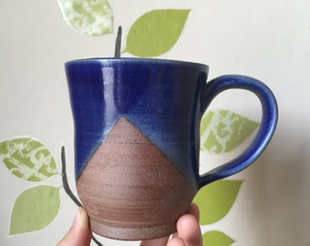 Royal Blue Scalloped Mugs