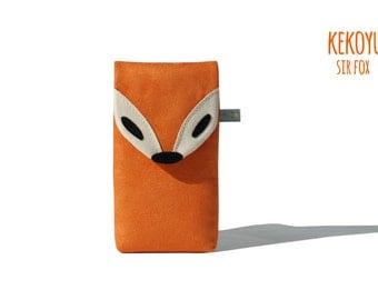 Fairphone 2 Sleeve Sir Fox Unique Colors / Fairphone 2 Case / Fairphone 2 Cover Wallet Handmade Kekoyu