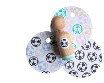 soccer ball Stamp -  / football mini stamp - for him - for kids - for her - Mini football stamp made with mint rubber
