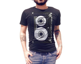 Cassette Tape T Shirt - American Apparel T-Shirt - Available in Men's, Women's and Kid's sizes (S, M, L, XL, 2XL & 3XL)