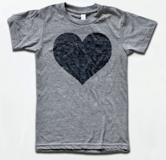 Heart t shirt american apparel tri blend vintage fashion for Tri blend custom t shirts