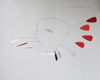 Hanging mobile, Calder inspired , Kinetic Art sculpture
