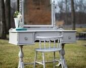 Gray Antique Vanity