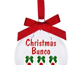 Ring the bell Bunco Christmas ornament. Hostess and gift