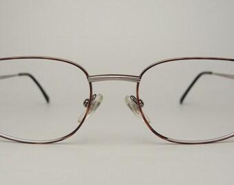 Rare Vintage Harley Davidson Motorcycles Men's Women's Designer Sunglasses Eyeglasses Frames Tortoise Gunmetal Rectangular Metal 90s Glasses