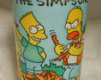 Vintage Simpsons collectible cup 1990 Burger King