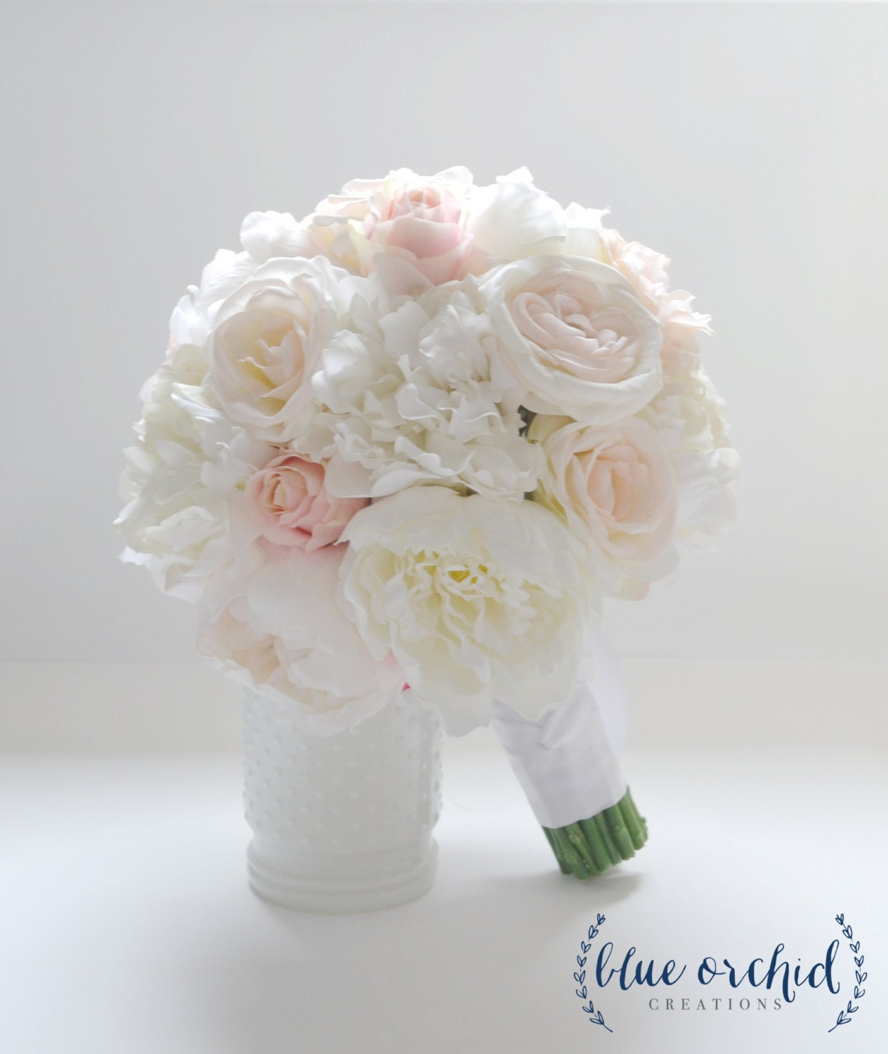Bridal Bouquets Using Peonies : Peony bouquet ivory blush