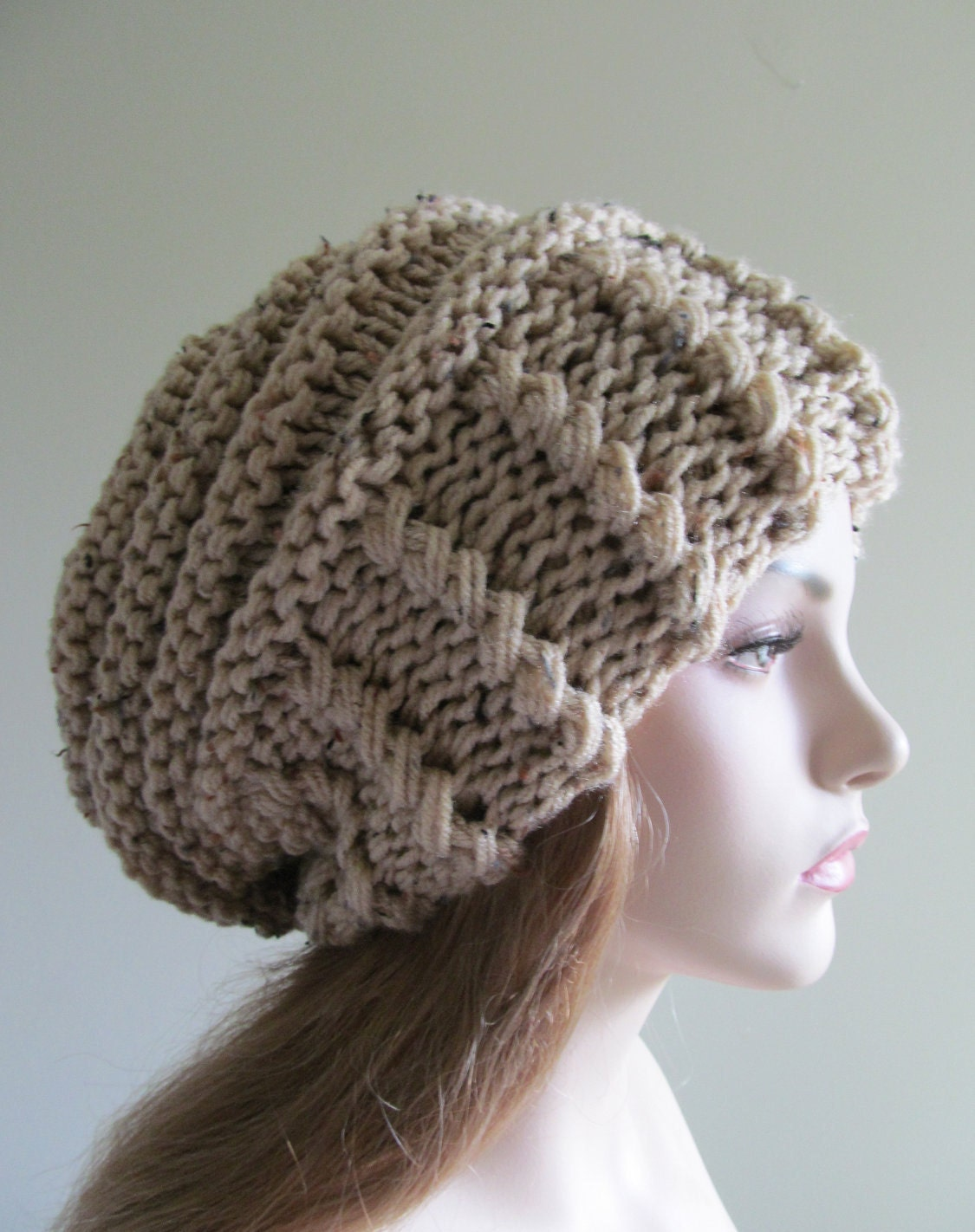 Loose Beret Knitting Pattern : Slouchy Beanie Slouch Hats Oversized Baggy Beret womens fall