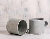 Ceramic cup, Light Blue ceramic mug, unique coffee cup, Modern Tea Cup,textured  blue mug, valentine's day gift, blue kitchen decor