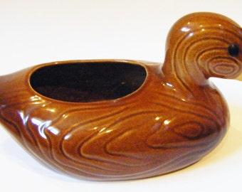 Vintage Duck Planter Pottery Centerpiece Home Decor