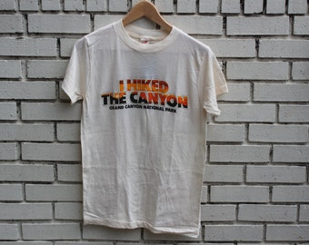Vintage GRAND CANYON I Hiked The Canyon shirt Sherry tag national park Arizona desert landmark clothing