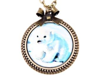 Necklace little polar ours 2525C