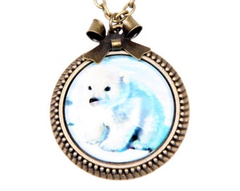 Little polar bear Necklace, 2525C