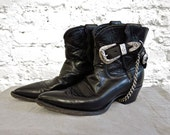80s JUSTIN Cowboy Ankle Boots - Women's 6