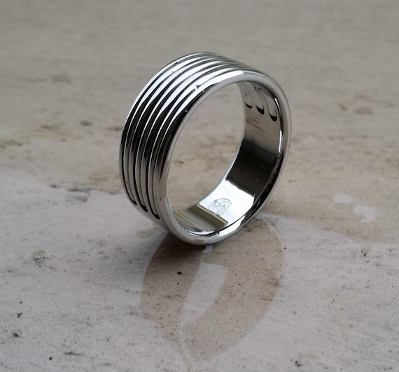 "29 ""TRIPLEX"" handmade stainless steel ring (not casted)"