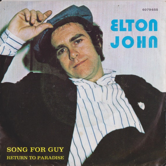 """ELTON JOHN Song For Guy 1978 Portugal Issue Rare 7"""" 45 rpm Vinyl Single Record Unique Sleeve Classic Rock Pop 70s 6079655 Free S&H"""