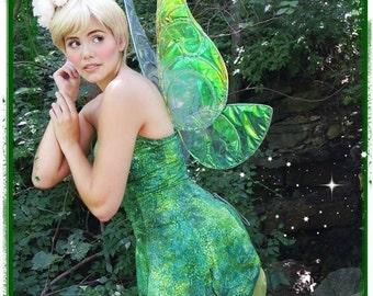 Tinkerbell Fairy Blonde Updo Bun Park Wig