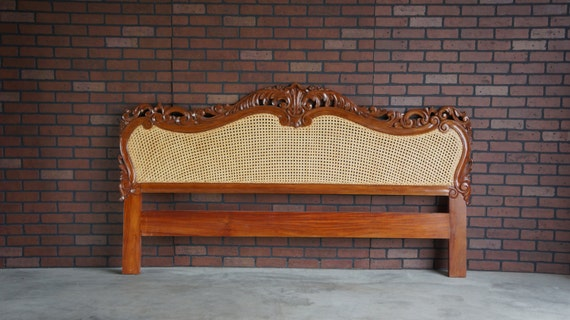 French Provincial Headboard King Cal King Headboard Cane