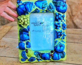 Mosaic picture frame, photo frame, unique gift, 'A Granted Wish'