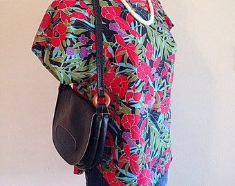 Vintage 1990s Hawaiian Tropical Top or Blouse NWT
