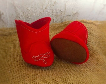 Waldorf Doll Shoes - Cowboy Boots