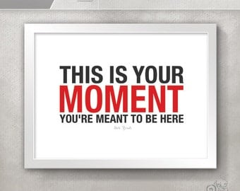 This is Your Moment Hockey Quote / For teens / Sports Quotes / Coach Herb Brooks / Inspirational Quote Print / Boys Room Decor // 5x7 / 8x10
