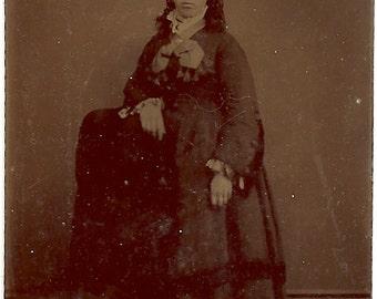 1890s-Tintype of Victorian woman
