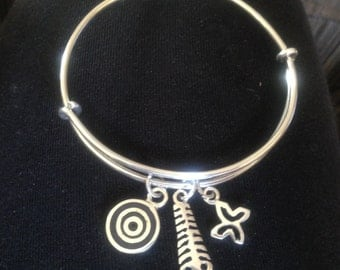 Adinkra. Silver success and graduation bangle