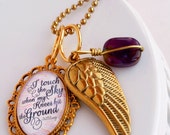 i touch the sky when my knees hit the ground / HillSong lyrics inspirational pendant necklace