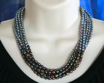 Freshwater Pearl 6-strand Necklace