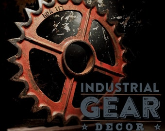 Antique Industrial Gear Display
