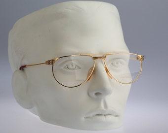 Anne Marie Perris AM11 23KT Gold plated / NOS / 80S Vintage eyeglasses and Sunglasses / Glamorous designer eyeglasses frame