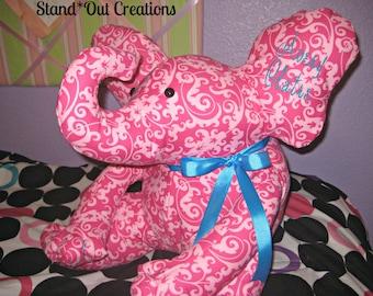 BIG Stuffed Elephant~Customized~Embroidered~Monogram