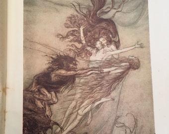 "Arthur Rackham prints, ""The Ring of the Niblung"""