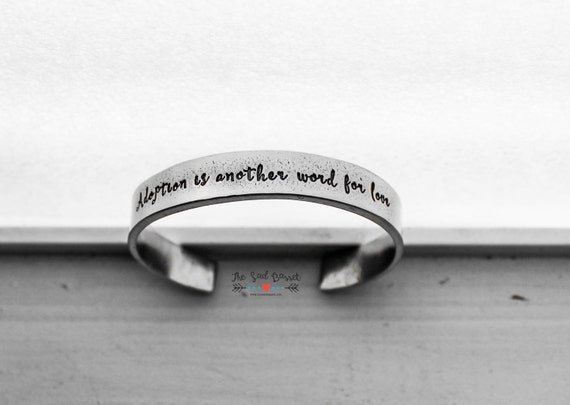 adoption is another word for sted cuff bracelet