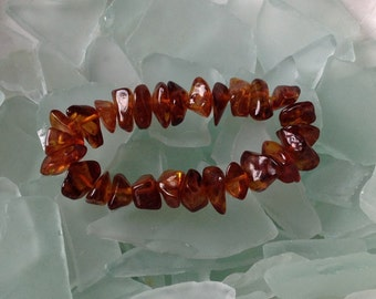 FINAL SALE Genuine Baltic Amber Nugget Bead Stretch Bracelet Etsy andersonhs