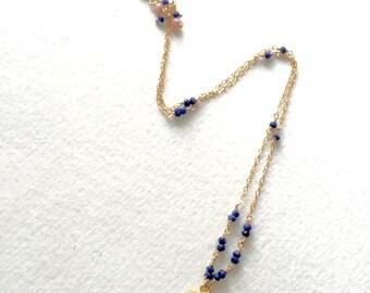 Lapis Lazuli Pendant Necklace by KarenWhalenDesigns