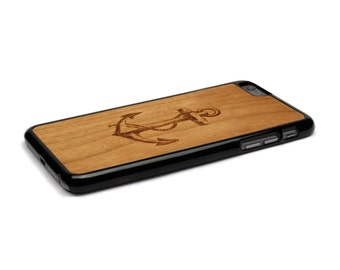 iPhone 6 Plus Case Wood Anchor, Wood iPhone 6s Plus Case Wood iPhone 6 Plus Case, iPhone 6 plus Wood Case, iPhone 6s Plus Wood Case