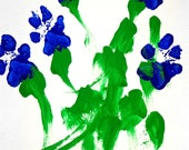 Bluebonnet Bouquet by Domino the Painting Pit Bull