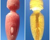 MAGIC WAND POP (5 lollipops): Delicious, sexy gift for date, bachelorette or solo fun. Sugar-free strawberry candy, vibrator shape