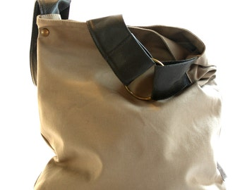 Canvas Hobo Bag, Woman Handbag, Canvas Purse, Crossbody Hobo Bag, Hobo Handbag, Bohemian Bag
