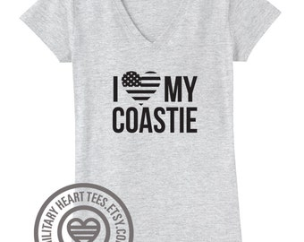 I love my Coastie shirt, coastie wife shirt, coastie girlfriend shirt, coastie mom shirt, coast guard clothing, coast guard love