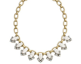 Gold Plated Aventine Collar Necklace
