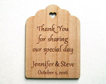 Rustic Wedding Tags, Rustic Tags, Wooden Tags, Gift Tags, Shower Favor Tags, Labels Hang Tags, Wood Personalize, Party tags, wooden labels