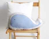 Blue whale pillow, Soft pillow, stuffed toy, soft toy, baby toy, ocean, cushion, Children pillow, kids room deco, kids toys, nursery toy